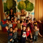 Rustavi, June 11, 2013-Two long-term EVS Volunteers from Poland visited two kindergartens, to play games and sing English songs.