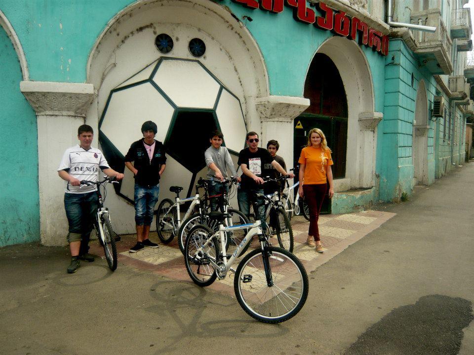 Rustavi, April 2013-Bike Club Meeting for Trip